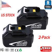 2 x 18V LXT Lithium Battery for Makita BL1860B BL1840 BL1850 BL1815 BL1830 3.0AH
