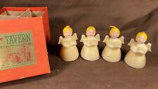 Vintage 4 Angel Tavern Candles in Original Box Christmas