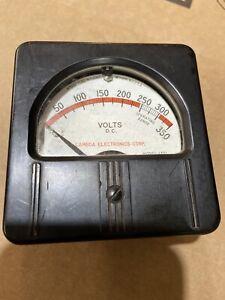 Vintage DC Volts Panel Meter Lambda Electronics Model 1301 FS=lMA Gauge 0-350