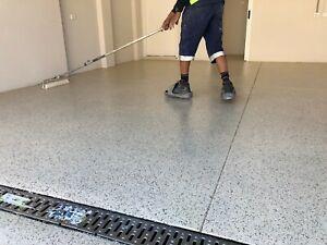 Large Dbl Garage 50sqm Epoxy Flake Floor Alfresco In&Outdoor CompleteKIT EasyDIY