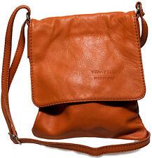 Echt Leder Damen Tasche Handtasche Ledertasche Schultertasche cognac MC102935