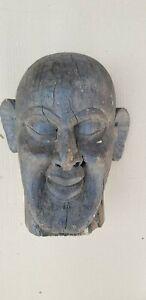 Antique Old Wooden Tribal Folk Demon Face Himalaya Wall Hanging Mask NH6436