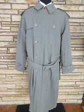 Vtg Georgio Armani Long Over Coat Sz 46 R All Weather Lined Outerwear