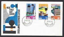 Niue 1976 Utility Services set on official unaddressed first day cover
