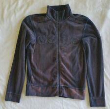 2001 Men's GSUS SINDUSTRIES Zipper Jacket Corduroy Blue/Purple Distressed Small