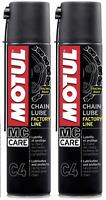 2 X 400 ML Grasso Spray per Catena Motul C4 Chain Lube Factory Line Racing Road