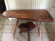 Magnifique Table Basse En Chêne Avec Son Repose Pied Forme Originale