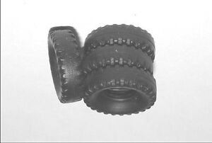 * 839-12 tires black striated round tape for dinky toys berliet glr 34a bucket