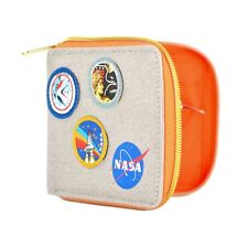 Genuine NASA Zipped Canvas Wallet Gift Boxed Badges Patches Space Licensed