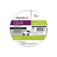 5 x  Digitalpal CD-R Discs Recordable 700 MB 80Min (52x) CDR Data/Music OTL