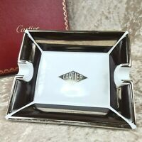 Authentic Cartier Porcelain Ashtray Tray Plate Ornament Limoges Interior No Box