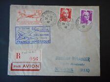 Recommandée 1ère liaison aérienne Française Paris - New York du 24 juin 1946