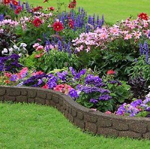 Flexi-curve Garden Border Rubber Lawn Edging - Rockwall - Earth Gardening Decora