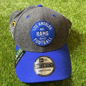 Los Angeles Rams NFL New Era Established 1937 39thirty stretch-fit hat L/XL