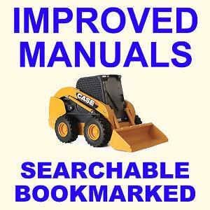 Case Alpha Series Skid Steer & Track Loader Service Manual & Owners Manual Set