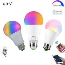LED Lamp RGB 5-10-15W WIFI Smart Bulb E27 B22 Bluetooth APP Control 85-265V