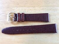 NEW KREISLER WATCH BAND BRACELET Lizard Grain Leather Brown 19mm 432102-19