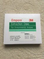 3M Empore Extraction Disks Octadecyl (C18),90mm Pack of 10 Distributed by varian