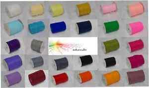 10 Metres of 6mm sheer organza ribbon woven edge - various colours