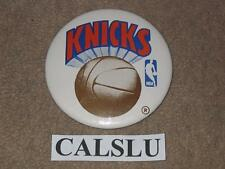 "VINTAGE 1980's NEW YORK N.Y. KNICKS ☆RARE☆ 3 1/2"" NBA BASKETBALL PIN BACK BUTTON"