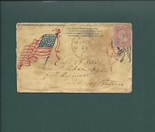 Civil War, Scarce Judson Higgins Design-Flag&Serpent. Clinton, Ill CDS, Pen cl