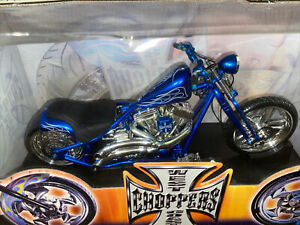 West Coast Choppers Jesse James 1/10 Scale JJ04-10-08 Cherry CFL  NIB BLUE