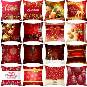"18"" Christmas 3D Santa Cushion Cover Throw Pillow Case Sofa-Car Xmas Home Decor⭐"