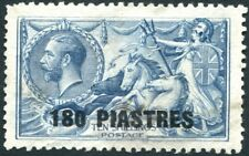 BRITISH LEVANT-1921 180pi on 10/- Dull Grey-Blue Sg 50 GOOD USED V23050