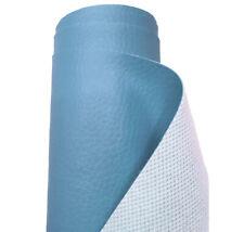 Tela de vinilo de piel azul profundo sillas de asientos de coche material de tapicería de cuero