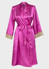 Beautiful pink  silky satin lace cuff wrap - dressing gown small/medium