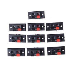 10Pcs 2 Positions Push in Jack Spring Load Audio Speaker Terminals EP