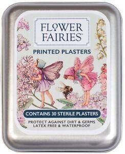 FLOWER FAIRIES Hypoallergenic Sticking Plasters First Aid Tin 80s Vintage Retro