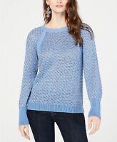 INC International Concepts Long Sleeve Crew Neck Sweater Blue X-Large Size