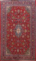 Vintage Floral Sarouk Hand-Made Area Rug Traditional Oriental Wool Carpet 7x12