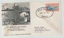 1940 Bahamas Sea Floor Cover Williamson Photosphere Cachet