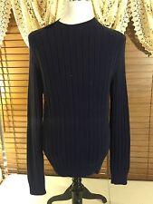 Men's POLO RALPH LAUREN Golf Knit Sweater Navy Blue Shirt XL Crew