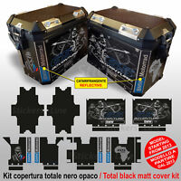 Kit COMPLETO adesivi valigie BMW R1200GS ADV borse Globo Africa Tuareg BLACK BLK
