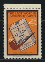 VEGAS - Vintage Beacon Hill Tobacco Promotional Poster Stamp -Read Desc (CR26)