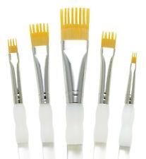 Royal Brush Professional Set AQUALON WISP Paint Brushes 5Pc FLAT Art Supply 202