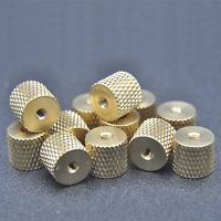 20 pcs M2 x 0.4 Brass Pineapple pattern knurled Thumb cylindrical copper nuts