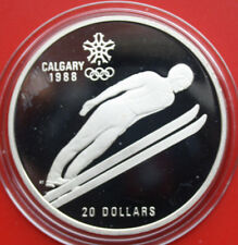 "Kanada-Canada 20 Dollars 1988 Silber PP-Proof KM# 159 #F 1935 ""Olympia Calgary"""