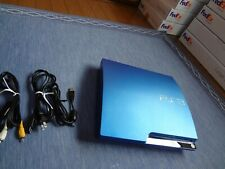 SONY Playstation 3 PS3 sony Splash Blue 320GB Console Tested Work