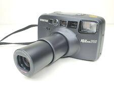 PENTEX IQ-ZOOM 140 35mm Panorama Camera 38-140mm Zoom Lens AF w/ Strap EUC WORKS