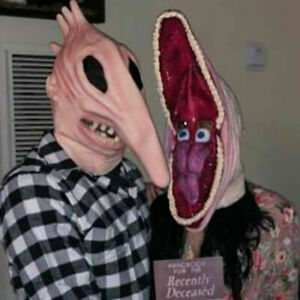 Adam and Barbara Full Head Mask Horror Fancy Cosplay Dress Halloween Party Prop