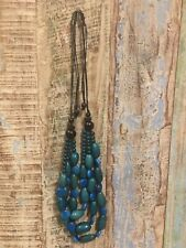ETHICALLY SOURCED TAGUA NUT GREEN-BLUE NECKLACE