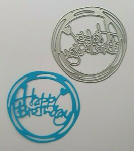Craft Metal cutting die Scrapbooking Paper craft DIY Cards Happy Birthday Circle
