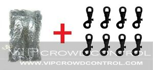 6mm Plastic Chain + Plastic Snaps VIP Crowd Control
