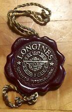 LONGINES TAG Hangtag Seal Calatrava Conquest Diver Evidenza Aviator Heritage OEM