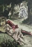 BERTHOMME SAINT-ANDRE :  Les deux amants surpris - EAU FORTE érotique, 1931