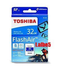 Toshiba 32GB 32G FlashAir SDHC SD Wireless Wifi Card Class 10 U3 4K Retail W-04